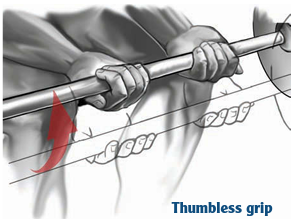 thumbless grip
