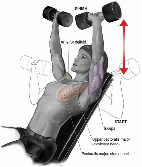 incline dembbell press