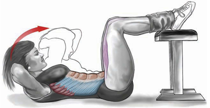 legs supported sit-up